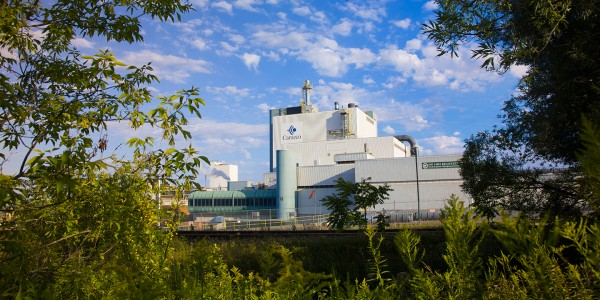 Cameco's Port Hope Conversion Facility chemically changes the UO<sub>3</sub> from Blind River into either uranium hexafluoride (UF<sub>6</sub>) or uranium dioxide (UO<sub>2</sub>).